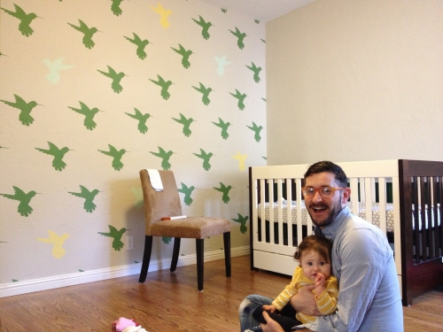 The finished hummingbird wall!