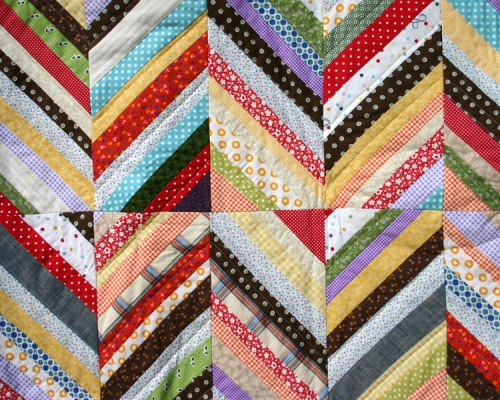 After each block is trimmed, its a quick quilt to stitch together and finish up!