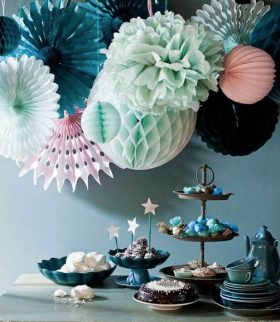 The Pin: Tissue paper cluster in a gorgeous color palette.