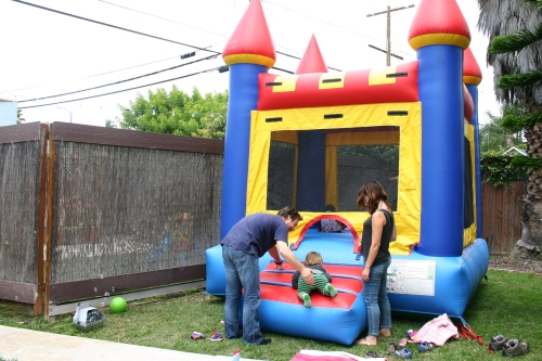 This perfectly sized bounce house for our yard was a huge hit.