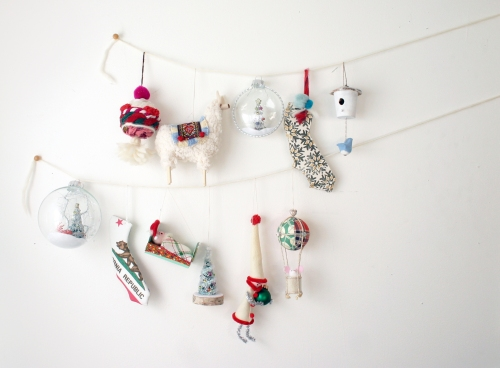 Not feeling up to making stuff this year?  These are my new ornaments for 2015!  For sale in my online shop, Haus and Home LA.